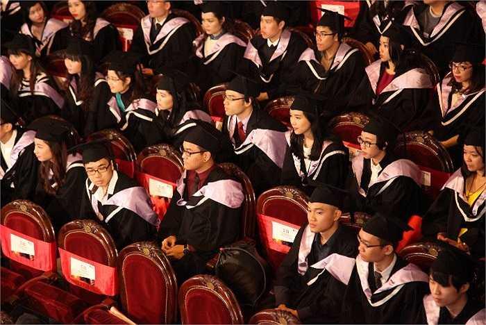 Nguyễn Mai Ly hồi hộp chuẩn bị lên nhận bằng tốt nghiệp