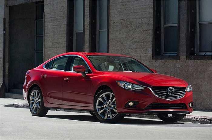 Mazda6 - 81%   xếp thứ 6 trong số những mẫu xe được chuộng nhiều nhất.