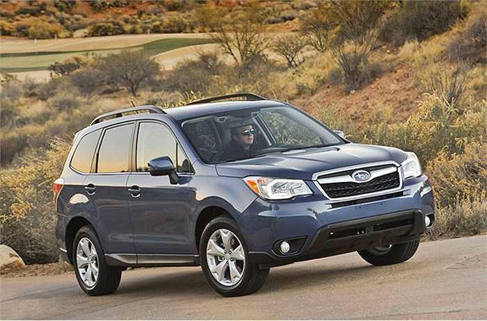 Subaru Forester (phiên bản không tăng áp) - 83%   xếp thứ 5 trong số những mẫu xe được chuộng nhiều nhất.