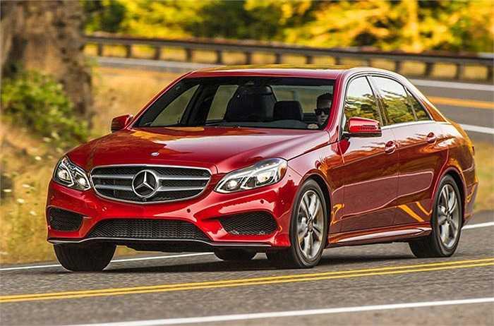 Mercedes-Benz E250 BlueTec - 88%,   xếp thứ 3 trong số những mẫu xe được chuộng nhiều nhất.