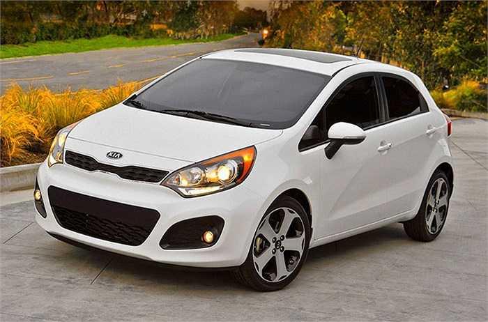 Kia Rio - 46%,   nằm trong số 3 mẫu xe được chuộng ít nhất.