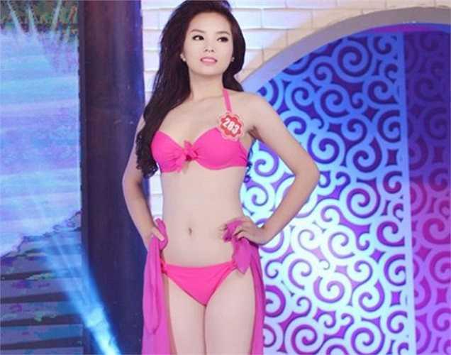 Nguyễn Cao Kỳ Duyên tự tin bước vào cuộc thi nhan sắc lớn nhất nước với số đo hình thể cao 1m73, nặng 59kg, số đo ba vòng 86- 63-91.