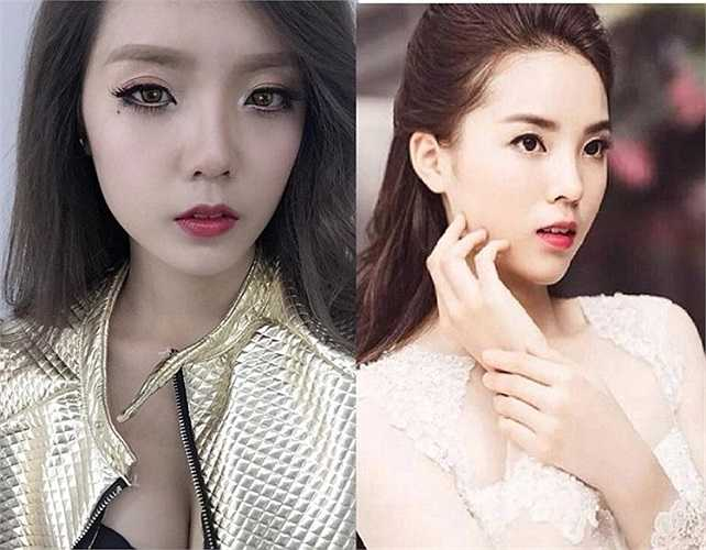 Cả hai 9X đều sở hữu gương mặt nhọn, đôi môi nhỏ nhắn và ánh mắt lôi cuốn. Đây được xem là bản sao được phát hiện sớm nhất trong tất cả các cô gái nổi tiếng vì có nhan sắc giống Hoa hậu Việt Nam.