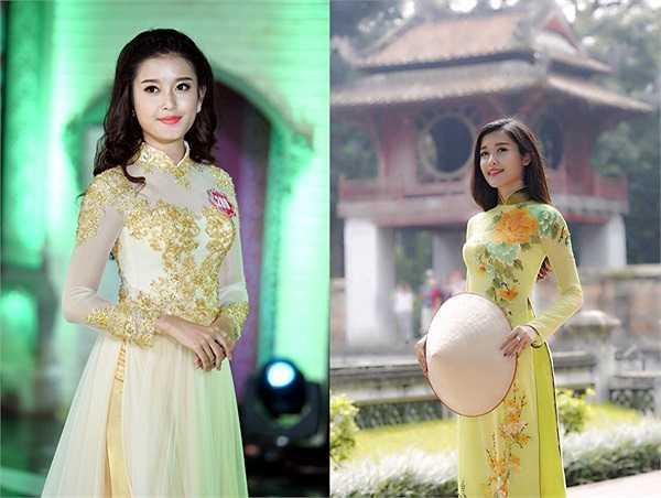 Á hậu 1 Việt Nam duyên dáng trong tà áo dài