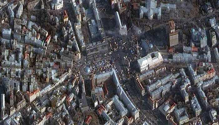Ảnh chụp thành phố Kiev ở Ucraina, 24/02/2014