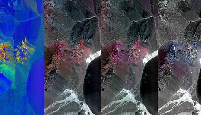 Ảnh chụp vùng đồi Cuprite, Nevada, Hoa Kỳ, 19/09/2014