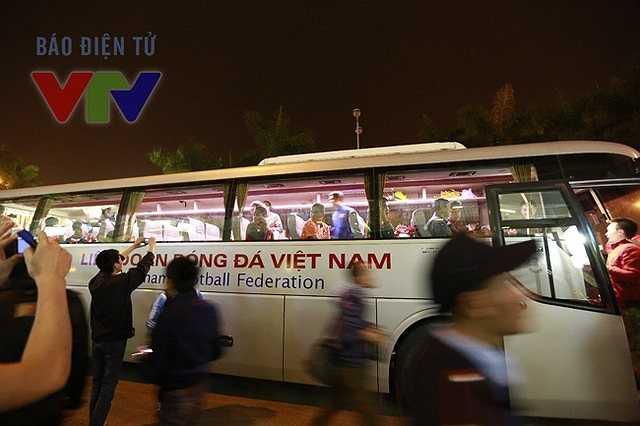 Đội tuyển Việt Nam sẽ trở lại tập luyện vào ngày mai(Ảnh: VTV)