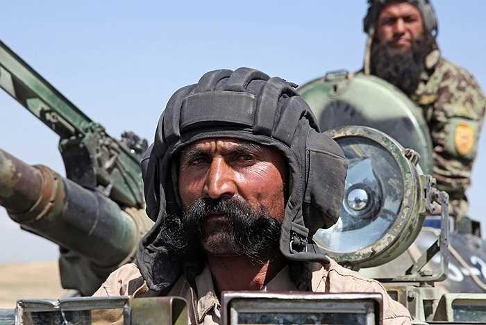 Binh sĩ thuộc lực lượng quân đội quốc gia ở Kabul, Afghanistan ngày 30/4/2014
