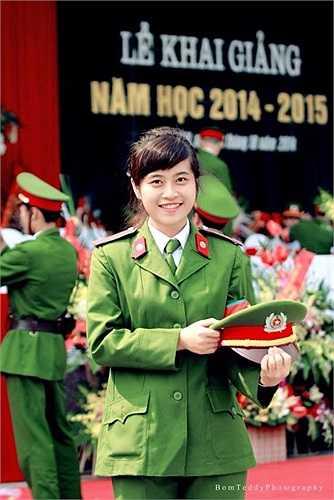 Ước mơ của Ngân là được giữ lại làm giảng viên trường HV Cảnh sát.