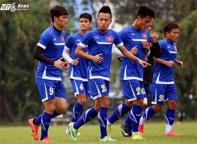 Tình hình sức khỏe của cả đội đang khá tốt. Ngoại trừ trường hợp của Xuân Thành, các cầu thủ đều có thể lực tốt. (Ảnh: Quang Minh)