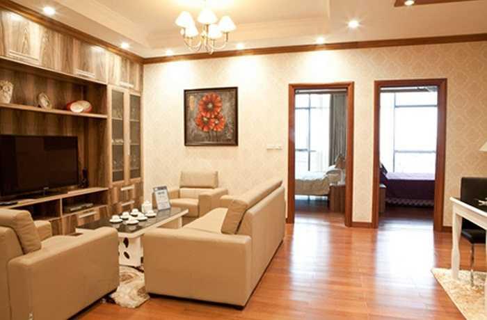 Đây chỉ là hình ảnh 'bản sao' ngôi nhà của Mai Phương Thúy - hình ảnh một căn hộ mẫu thuộc khu chung cư trên đường Trần Duy Hưng vì căn hộ của hoa hậu sẽ được thiết kế riêng theo ý thích của chủ nhân