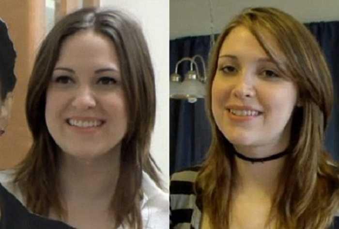 Niềm khao khát của bà mẹ một con cuối cùng đã được thực hiện, bức ảnh chụp cô trước (bên trái) và sau khi phẫu thuật (bên phải) đã có sự thay đổi rõ rệt.