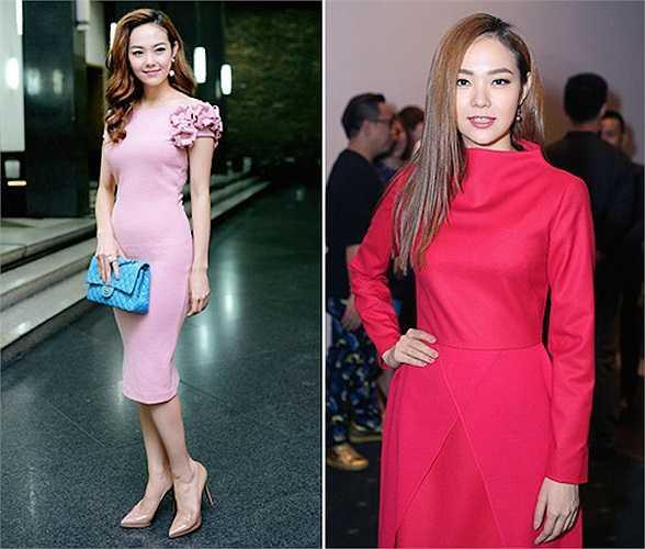 Một trong những mỹ nhân gây ấn tượng với người hâm mộ nhờ mặc đẹp năm qua là nữ ca sỹ Minh Hằng. Cô đã có sự chuyển biến đầy tích cực trong phong cách thời trang. Trang phục không quá rườm rà, hợp vóc dáng và làm tăng nét quyến rũ cho người mặc luôn được giọng ca sinh năm 1987 ưu tiên.