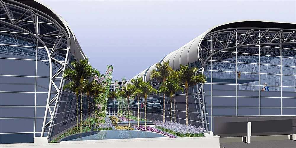 Sân bay Chennai ở miền nam Ấn Độ có hai nhà ga mới với môi trường tự nhiên có thể nhìn thấy từ phía bên trong đến phía bên ngoài. Hành khách có thể đi trên một cây cầu thiết kế hoàn toàn bằng kính nhìn ra một khu vườn nhiệt đới đầy cây cọ, hoa lan và các loài cây bản địa khác, giúp hành khách cảm thấy phấn chấn và sảng khoái hơn sau những giờ bay mệt mỏi.