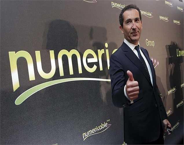 Tỷ phú viễn thông Thụy Sĩ Patrick Drahi có tổng tài sản tăng 5,1 tỷ USD so với năm ngoái.