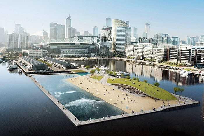 Nhìn về tương lai, đó là khẩu hiệu mà công trình tại cảng Melbourne, Australia hướng tới. Tòa nhà nổi có thể tổ chức các môn thể thao bãi biển như lướt sóng, đua thuyền được thiết kế như một thành phố thu nhỏ, với rất nhiều gian hàng tiện nghi bên trong