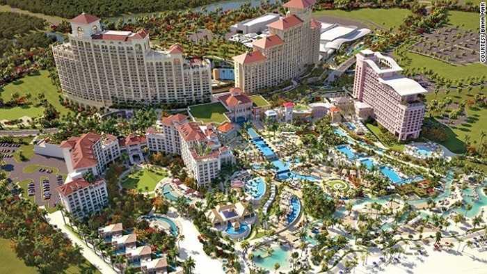 Baha Mar (Bahamas) - nơi đây có các nhà hàng, khách sạn, casino hạng sang tầm cỡ Macao cũng là điểm đến thu hút du khách.
