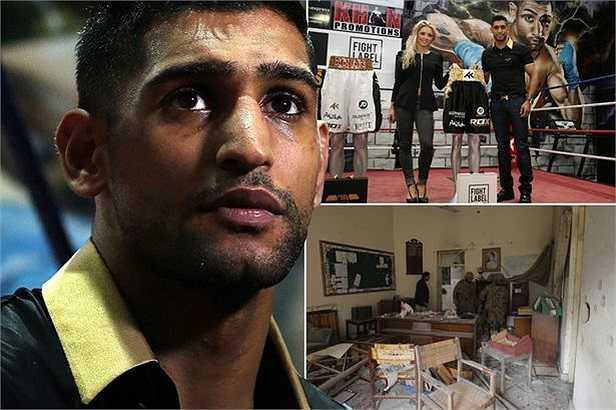 Chiếc quần của Khan dát 24 carat vàng và vừa được ảnh sử dụng trong trận đấu với võ sỹ người Mỹ, Devon Alexander ở Las Vegas. Chiến thắng ở trận đấu đó giúp Khan giữ được đai vô địch WBC.