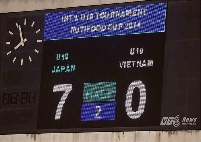 Thua U19 Nhật Bản 0-7 là cú đấm hạng nặng vào U19 Việt Nam, vào niềm hứng khởi, lạc quan đang được đẩy lên cao. (Ảnh: Quang Minh)