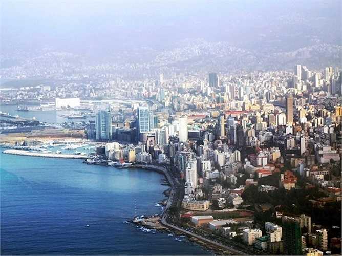 1. Beirut, Lebanon. Kiến trúc của Beirut là sự kết hợp tuyệt vời giữa vẻ đẹp hiện đại, Ottoman và phong cách thời thực dân Pháp. Beirut được ví như 'Paris của vùng Địa Trung Hải'.