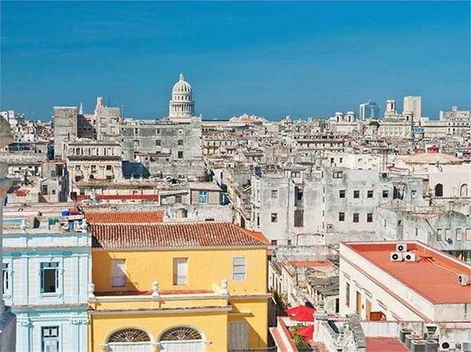 4. Havana, Cuba. Thành phố nghìn năm tuổi Havana là thành phố đầy màu sắc, từng được UNESCO công nhận là di sản thế giới.