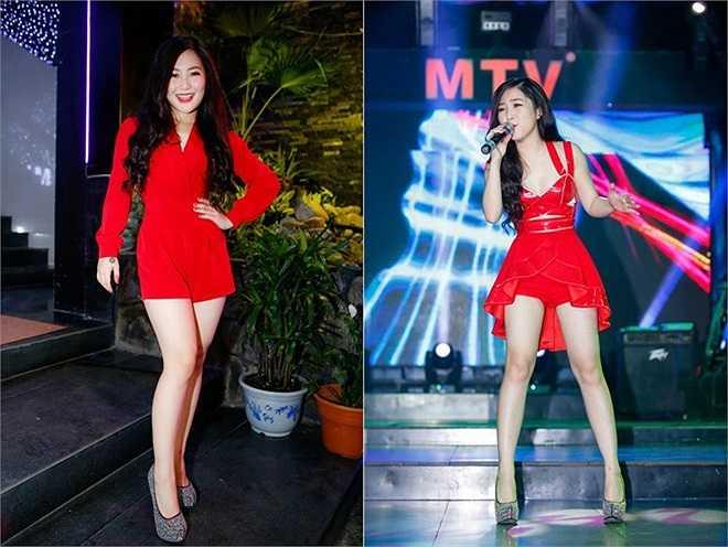 Sau sự cố về trang phục thảm họa khi hát bar, Hương Tràm đã biết cách tiết chế hơn, thế nhưng, với một cô gái 20 tuổi như Tràm, việc diện những bộ trang phục khiến người hâm mộ hài lòng. (Theo Zing)