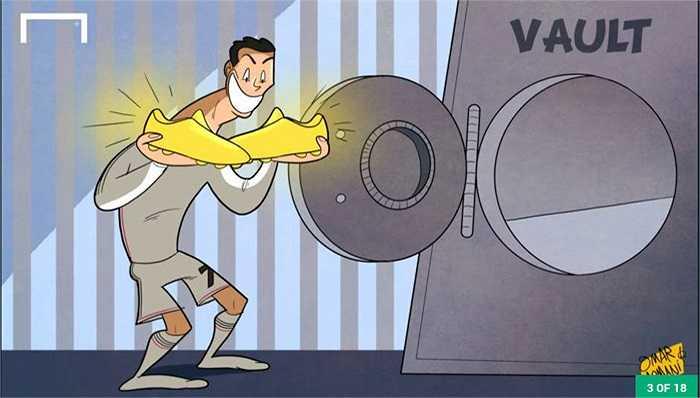 Ronaldo cất giày vàng vào két sắt