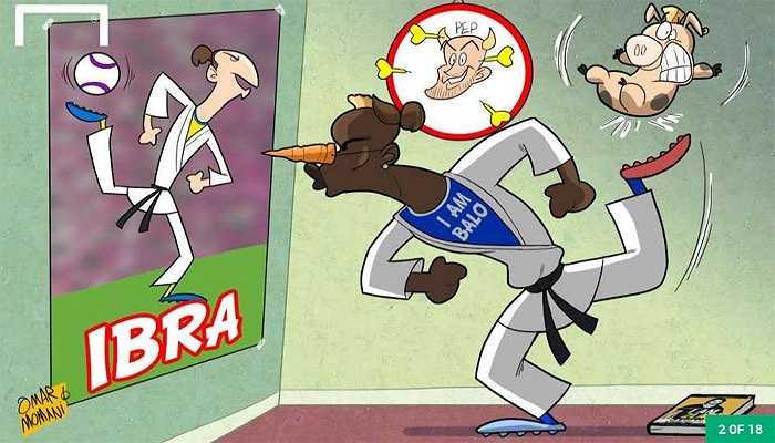 Balotelli mải học tập Ibrahimovic mà đánh rơi phong độ trên sân cỏ
