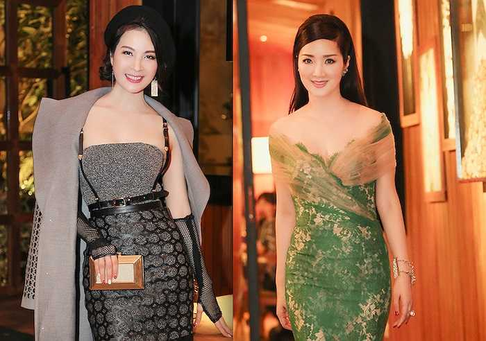 Cô và Giáng Mi là hai người đẹp trẻ trung, mơn mởn nhất nhì showbiz Việt dù đã khá lớn tuổi.