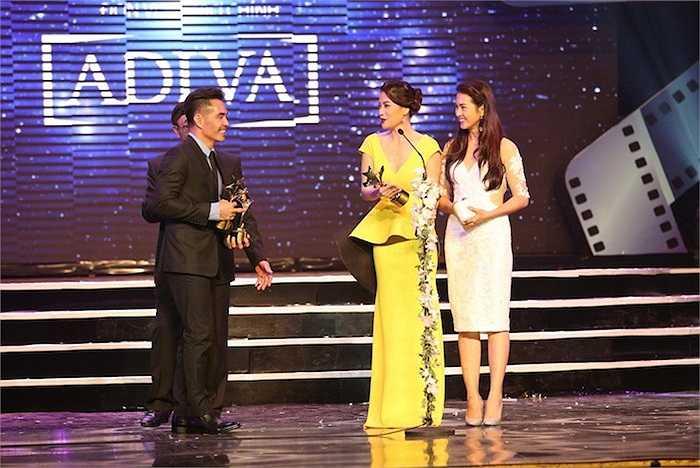 Nữ diễn viên của 'Hương Ga' cũng nhận giải Nữ diễn viên Điện ảnh xuất sắc nhất (HĐNT bình chọn). Trung Dũng và Bình Minh cùng nhận giải thưởng Nam diễn viên Điện ảnh xuất sắc nhất.
