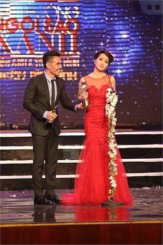 Nữ diễn viên Mai Thu Huyền và nam diễn viên Trung Dũng nhận giải cho Phim Điện ảnh hay nhất (Do Hội đồng nghệ thuật bình chọn) - Lạc giới.