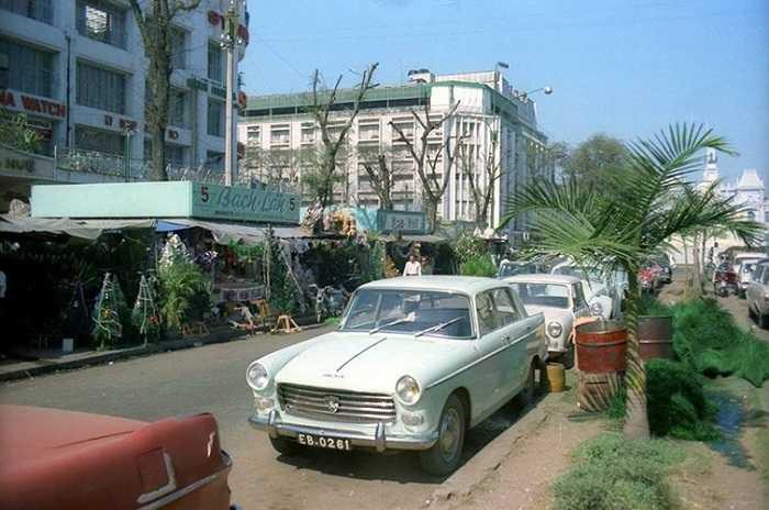 Đại lộ Nguyễn Huệ dịp Giáng sinh 1964. (Theo Kiến thức)