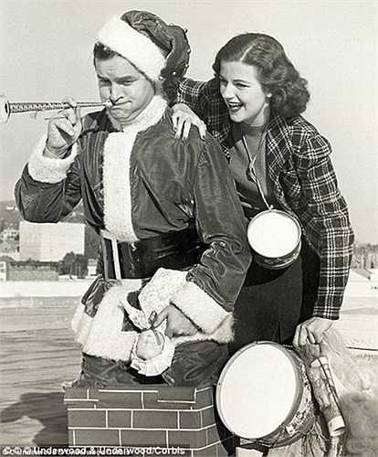 Các diễn viên Mỹ ăn mừng Noel năm 1938