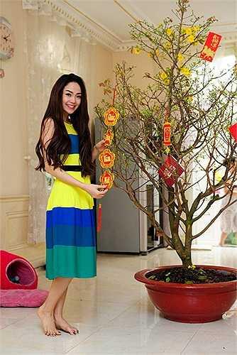 Nữ ca sỹ rất hiếm khi chia sẻ hình ảnh về ngôi biệt thự này với người hâm mộ.