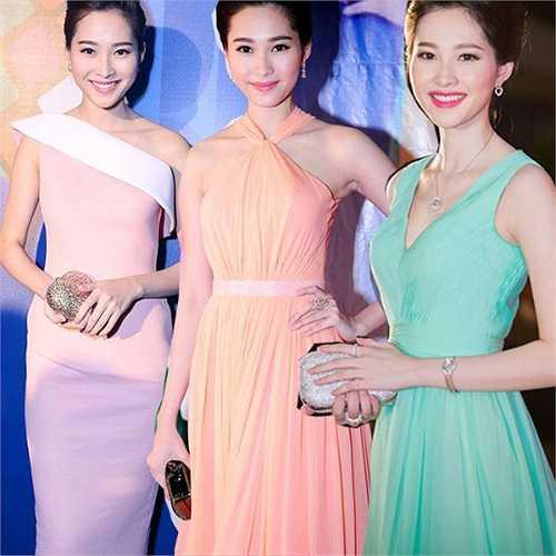 Hoa hậu Việt Nam 2012 khiến nhiều người xuýt xoa mỗi khi xuất hiện trên thảm đỏ bởi những bộ đầm hết sức ngọt ngào.