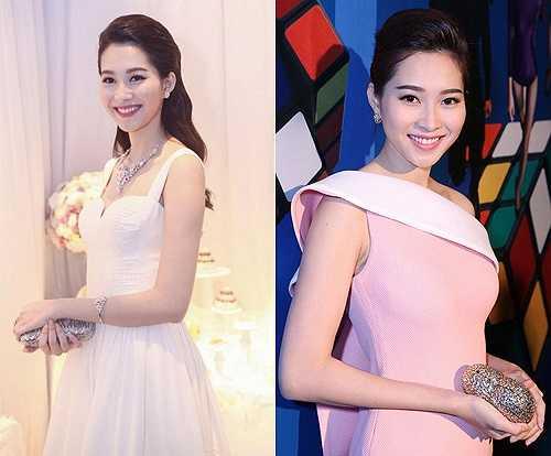 Hoa hậu Đặng Thu Thảo lại yêu thích nét tự nhiên trong phong cách trang điểm. Chúng cũng rất phù hợp với khuôn mặt nữ tính, hiền lành của cô
