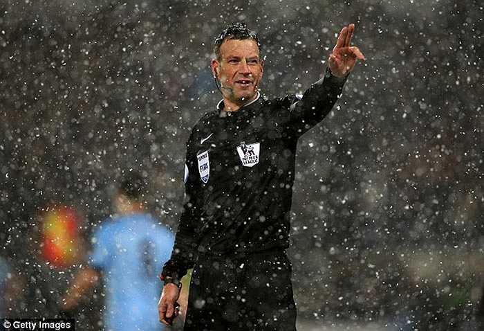 Trọng tài Mark Clattenburg được giao nhiệm vụ ở trận đấu giữa West Brom - Man City