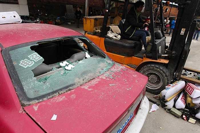 Đây là những chiếc xe taxi giả đã bị cơ quan chức năng phát hiện trong các lần kiểm tra.