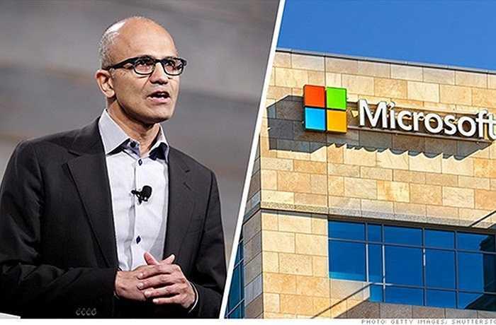 3. Satya Nadella – Microsoft    Năm 2014, CEO mới của Microsoft, Satya Nadella, đã chứng minh cho phố Wall thấy rằng, dù là người trong nội bộ nhưng chính ông là người thích hợp cho vị trí này. Với chiến lược kinh doanh di động và điện toán đám mây của Nadella, cổ phiếu Microsoft tăng 26%. Tuy nhiên, những phát ngôn phân biệt giới tính của Nadella gây ảnh hưởng khá lớn tới hình ảnh của Microsoft.