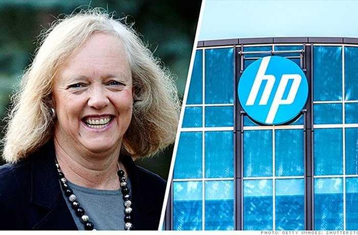 7. Meg Whitman – Hewlett-Packard    Năm 2011, khi Meg Whitman tiếp quản HP, công ty này đang chìm trong khủng hoảng. Whitman đã đồng ý chia công ty làm hai. Trong đó, một công ty tập trung vào máy tính, máy in và thiết bị khác, còn một công ty chuyên cung cấp phần mềm, máy chủ và dịch vụ cho các công ty lớn. Năm 2014, cổ phiếu HP tăng hơn 40%.