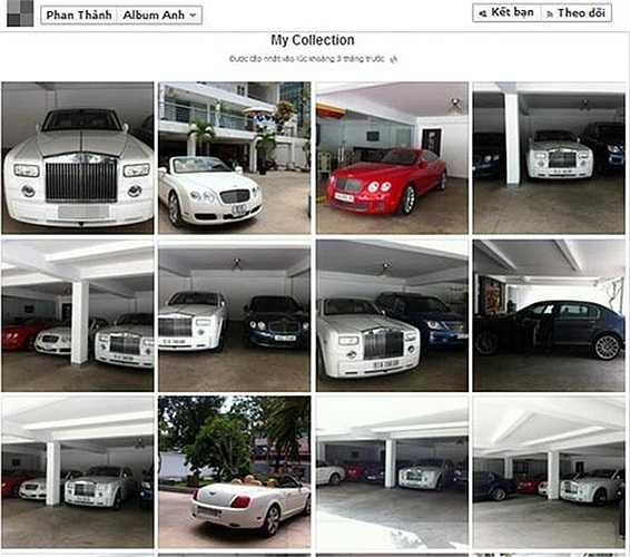 Quang Thành cũng nổi tiếng với thú sưu tập xe hơi. Bộ sưu tập xe hơi của Quang Thành có giá trị vào khoảng 60 tỷ