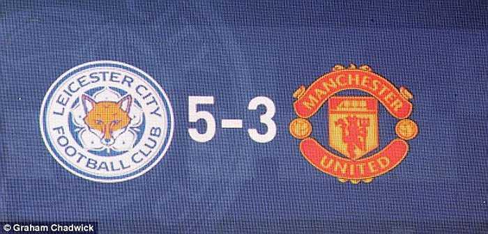 Dẫu vậy, Man Utd phải nhận kết quả cuối tháng 9. Họ dẫn Leicester City 3-1 nhưng lại thua ngược 3-5