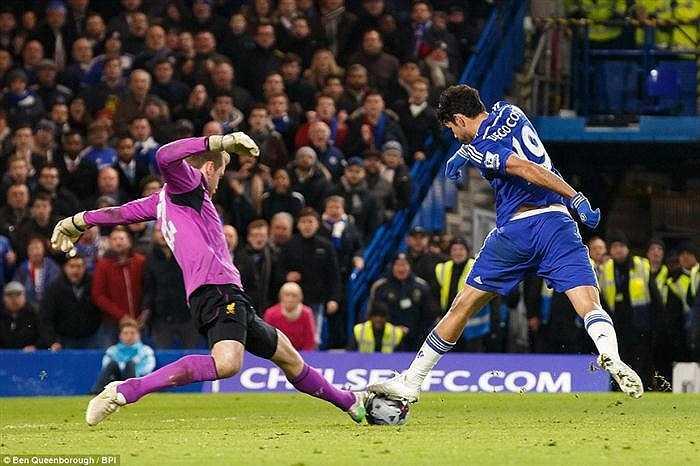 Ở trận đấu này, Mignolet đã thi đấu tốt, chặn đứng nhiều tình huống ăn bàn của Chelsea.
