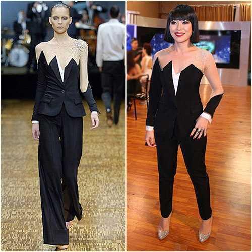 Bộ trang phục này chưa kịp được khán giả nhận xét là 'thảm hoạ thời trang' thì ngay lập tức, nó đã bị phát hiện là đạo một thiết kế của Viktor & Rolf vào năm 2007.
