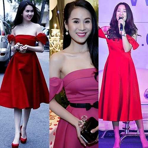 Tuy nhiên, ngay lập tức khán giả phát hiện ra chiếc váy của Mỹ Tâm giống một loạt sao khác như Ngọc Trinh, Thái Hà, Bảo Anh