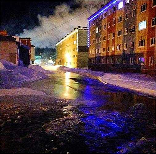 Đường phố ngập nước
