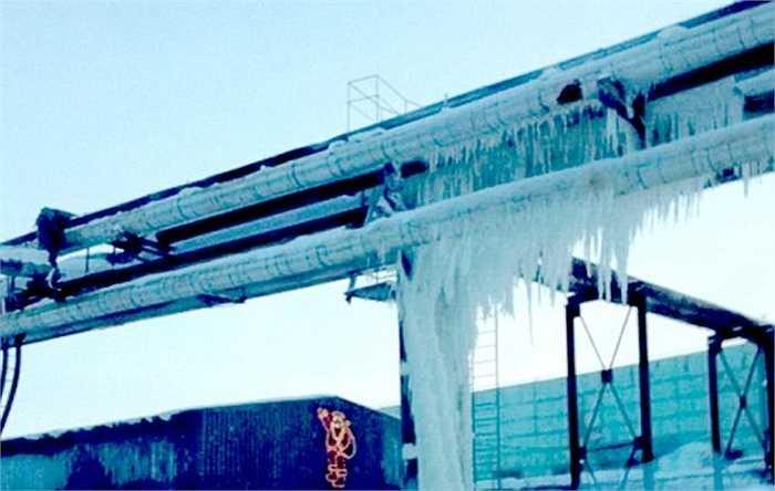 Các đường ống bị đóng băng