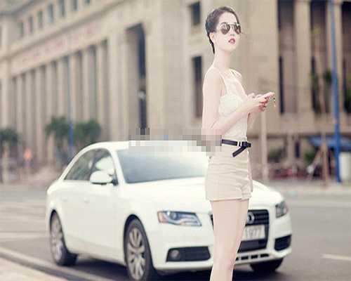 Chiếc Audi cũ gần 2 tỷ của Ngọc Trinh.