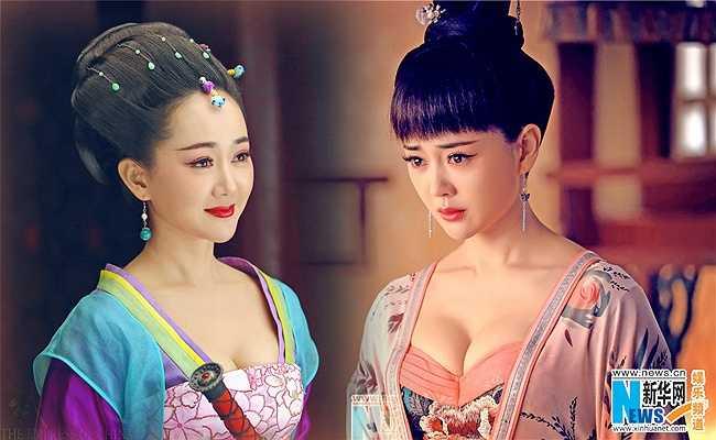 Vẻ đẹp ngọt ngào của Trưởng Tôn hoàng hậu và Trịnh Uyển Ngôn do Trương Định Hàm thủ vai.