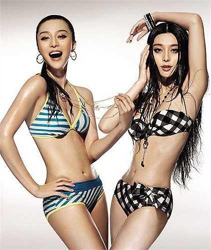 Phạm Băng Băng trong một bức ảnh chụp bikini.